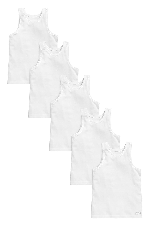 next Bambini E Ragazzi Confezione da Cinque Canotte (1, 5-16 Anni) vestibilità Standard 5-16 Anni) vestibilità Standard
