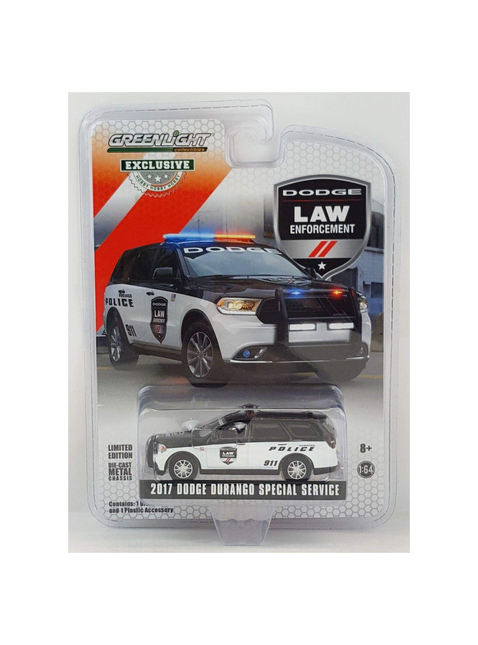 1:64 Love Gift Hobby EX 2018 Dodge Durango Police Law Enforcement Unit NIP Rare Vehicle Toy