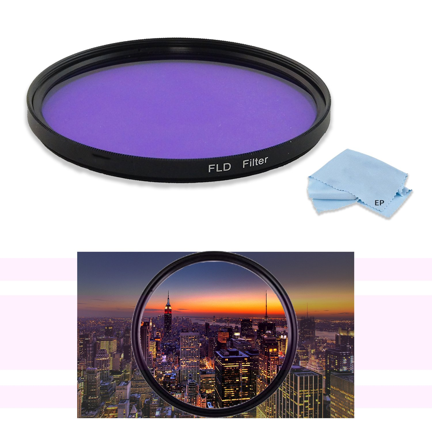 High Definition 49 mm FLD蛍光灯ライトフィルタfor Sony sel30 m35 30 mm f/3.5 e-mountマクロレンズ、Sony sel35 F18 35 mm f/1.8 Primeレンズ& Sony sel50 F18 /B 50 mm f/1.8レンズ   B07DR67HRT