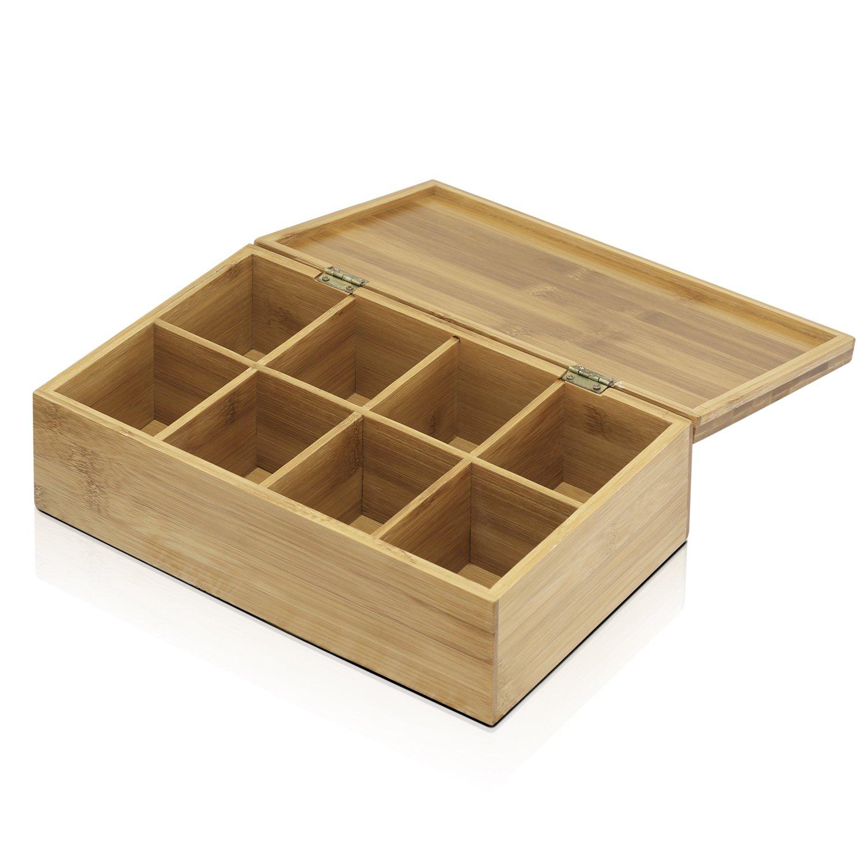 FURINNO Dapur Bamboo Tea Box, Natural by Furinno (Image #1)