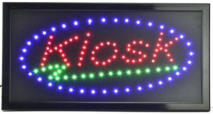 Quiosco redondo LED Cartel Cartel nostálgico Publicidad ...