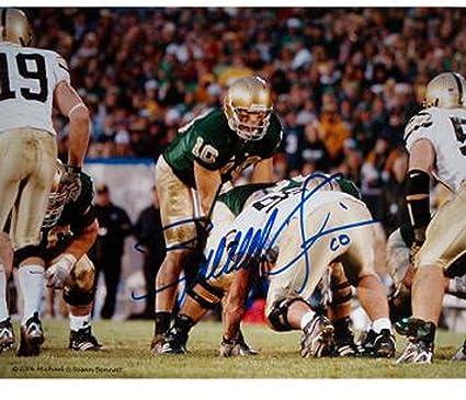 newest 10181 8ce77 Brady Quinn Under Center Green Jersey Horizontal 8x10 ...