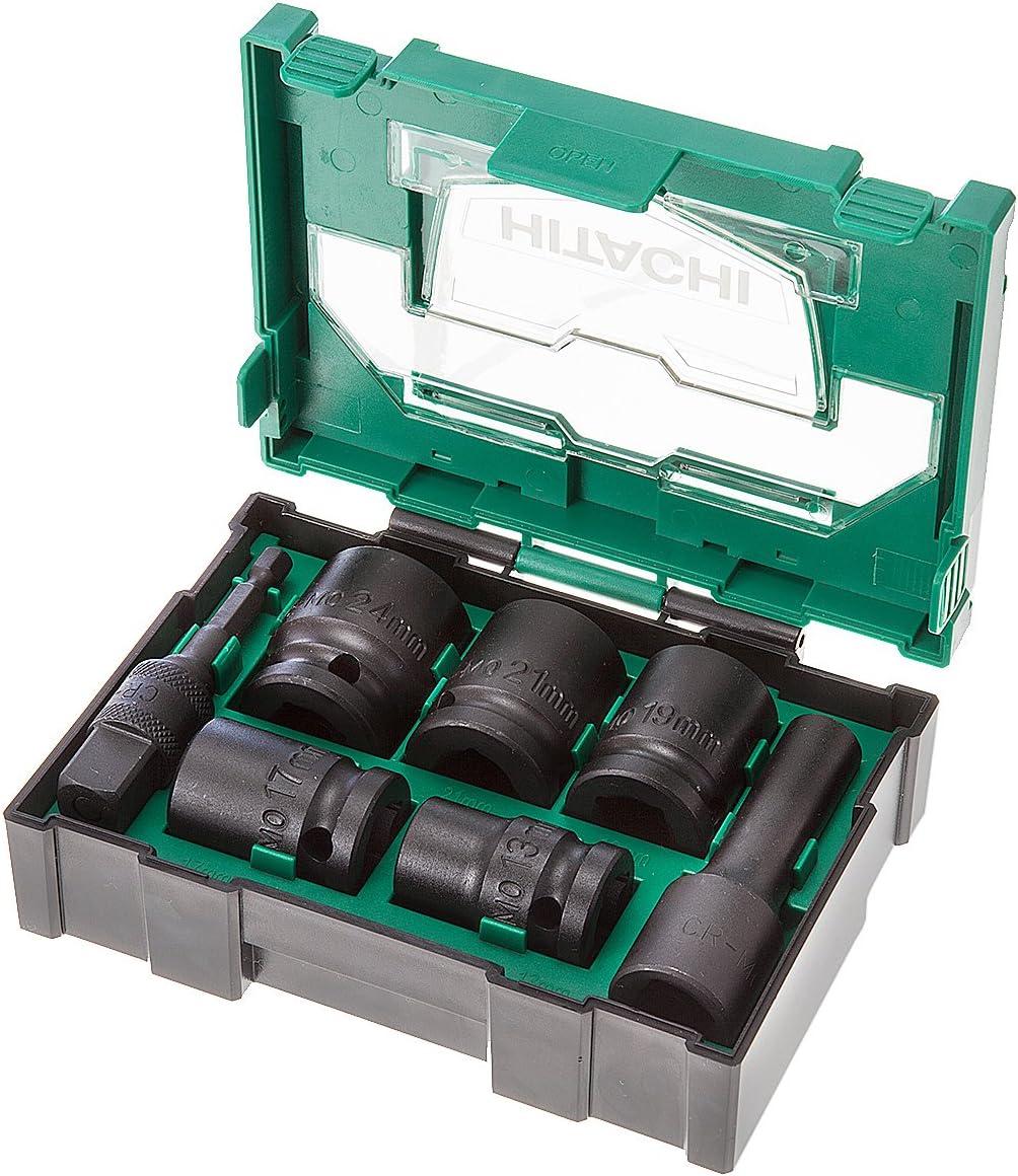 Hitachi 7tlg Kraftnuss-Box (Box II) - Juego de accesorios de herramientas eléctricas