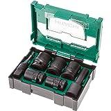 Hitachi 400.300.25 Set d'accessoires empilable avec 7 douilles impact