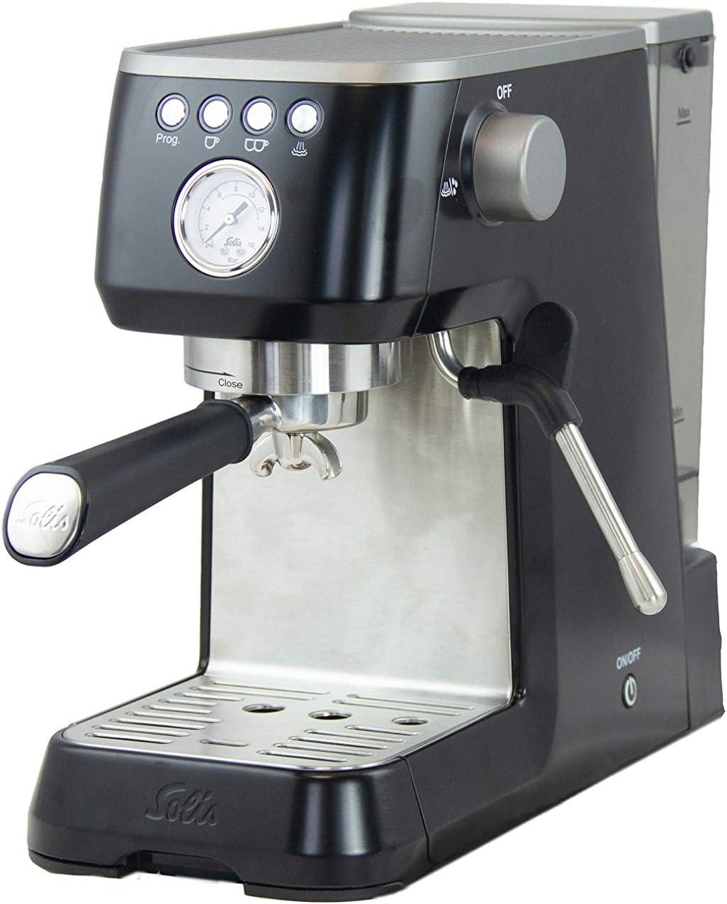 Acero inoxidable 15 bar Solis Barista Perfetta Plus 1170 1 o 2 tazas 1,7 L M/áquina de caf/é expreso Gris Cafetera expresso autom/ática
