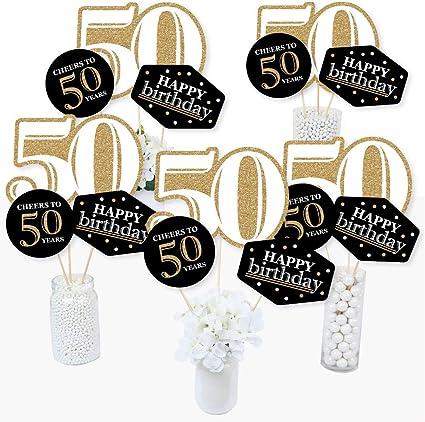Amazon.com: Adulto 50º cumpleaños – oro – cumpleaños fiesta ...