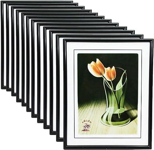 Caja de 12 portafotos de PVC en Color Negro Exterior 25 x 20 ...