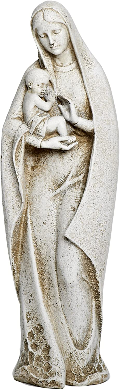 Joseph Studio 40035 Tall Madonna and Child Garden Statue, 14-Inch