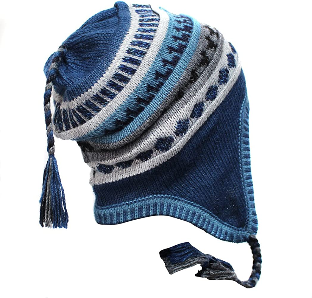 db345600c CHULLO HAT CAP Baby Alpaca all colors Incaico made in PERU Steel at ...