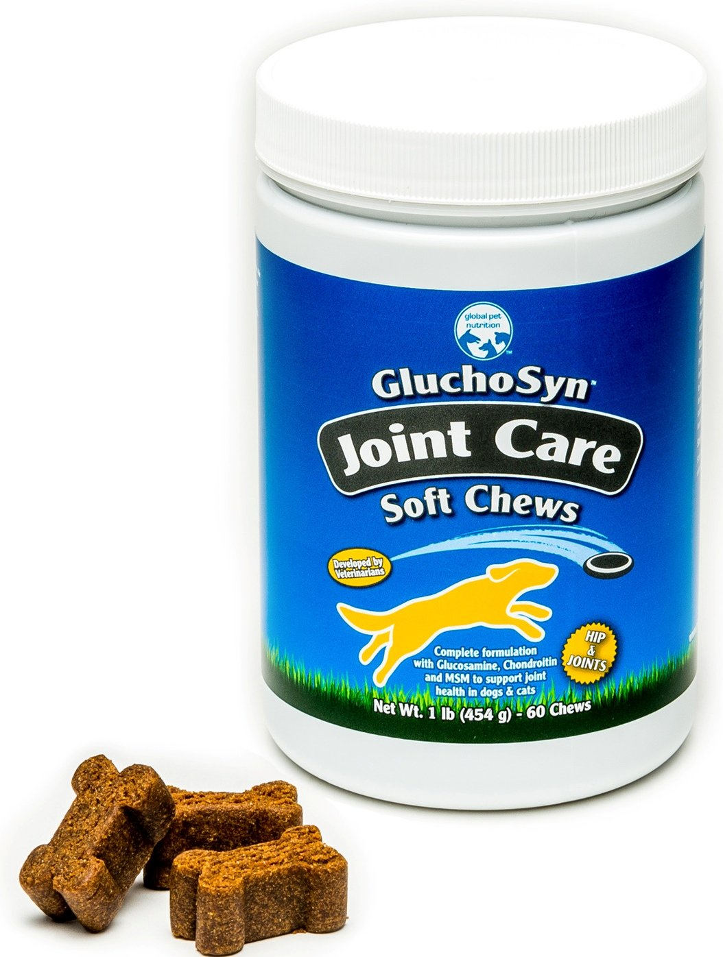 Joint Care Soft Chews For Dogs  Hip & Joint  Great For Improving Mobility  Complete Formulation With High Amounts Of Glucosamine, Chondredin, Msm & Hyaluronic Acid  1 Pound, 60 Soft Chews  Great Value