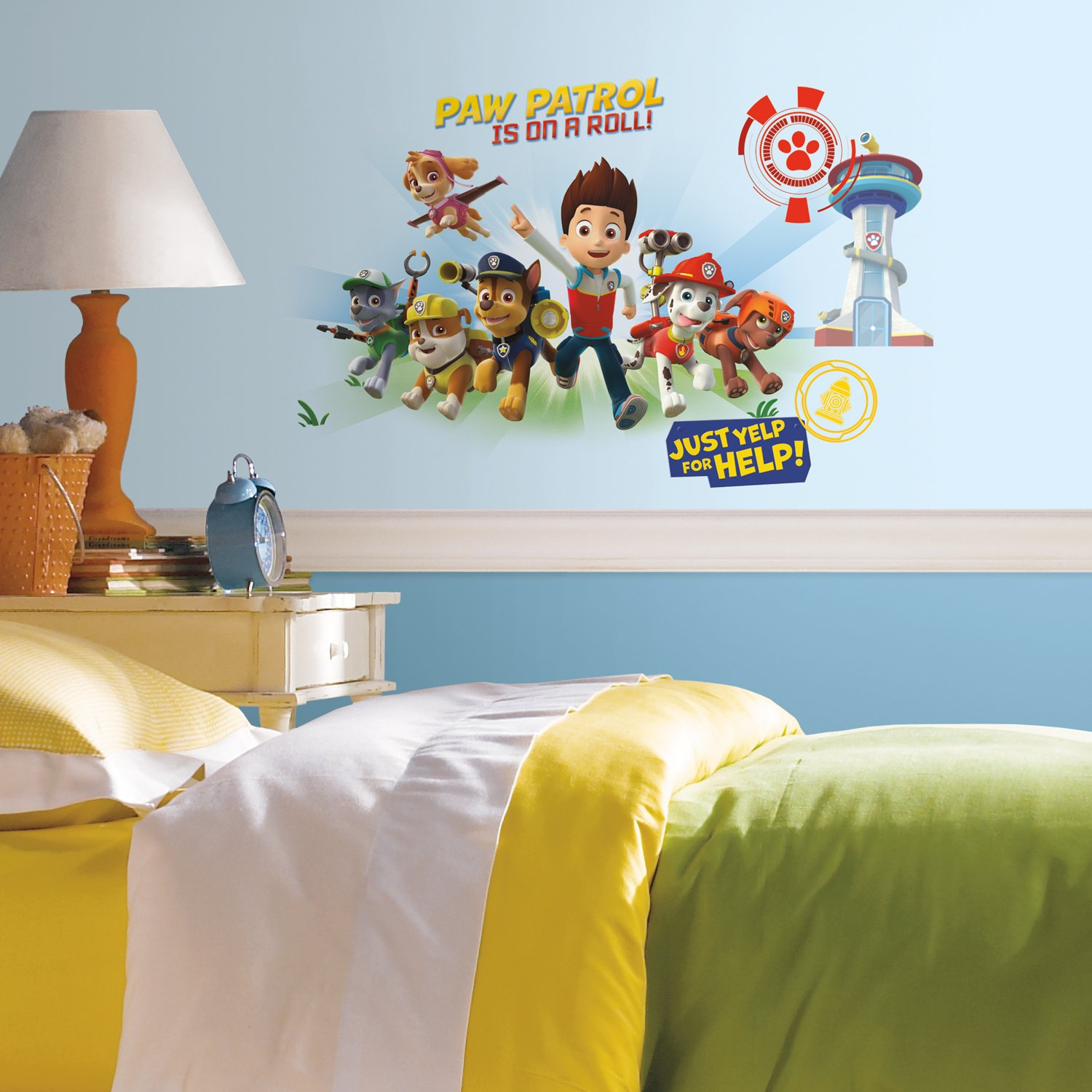 RoomMates Paw Patrol Wall Graphix Peel and Stick Giant Wall Decals York Wallcoverings RMK2641GM