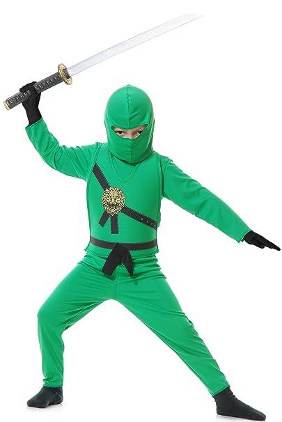 Charades Promo CH84372VG-L Chicos Verde Ninja Avenger ...