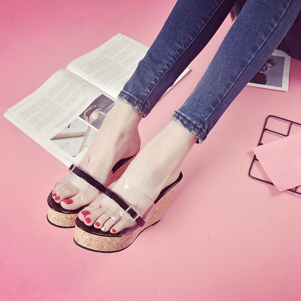 5cm-8cm Shoes Neartime Fashion Casual Summer Transparent Slipper Height Platform Wedges High Women Sandals