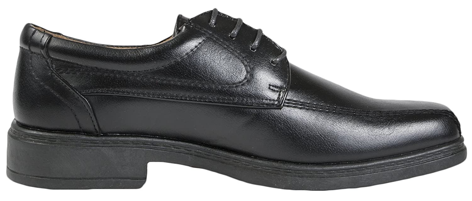 MENS SQUARE TOE FAUX LEATHER SHOES WEDDING WORK SLIP ON / LACES SIZE 6- 13:  Amazon.co.uk: Shoes & Bags