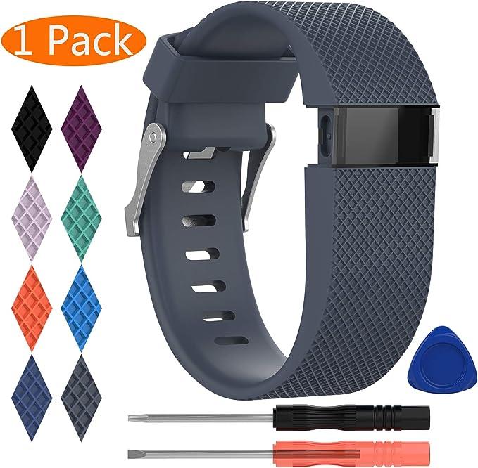 Image of Correa para Fitbit Charge HR,KingAcc Silicona Suave Pulsera de Respueto con Hebilla de Metal Compatible con Fitbit Charge HR Smartwatch