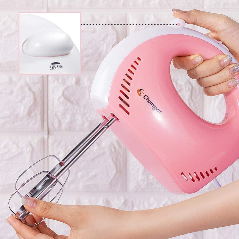 Wangqianli Frullino Elettrico in Acciaio Inox Mixer Frusta Cottura Portatile Automatiche ad Uso Domestico Frullino Dough Mixer Cream Mixer (Colore : Pink) Pink