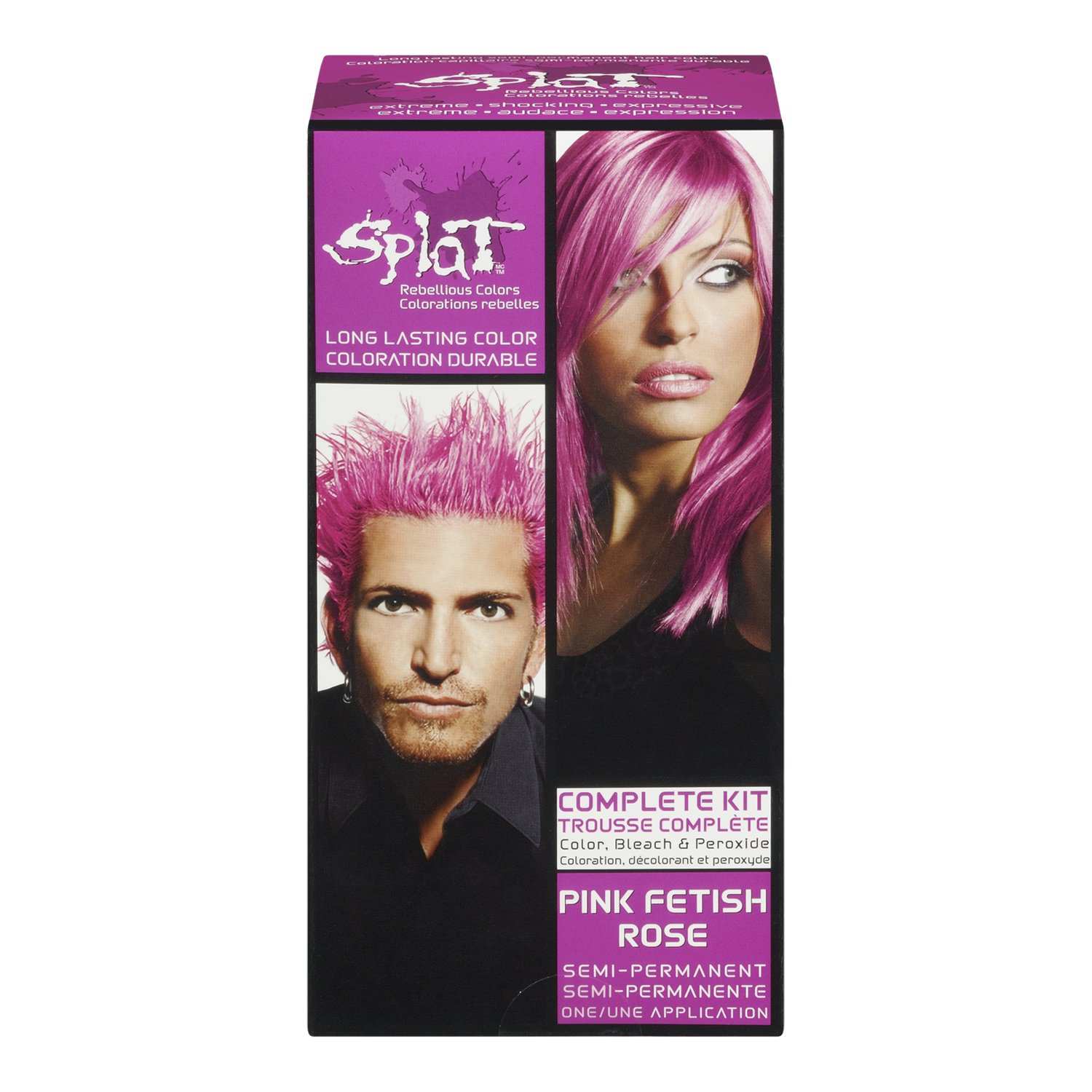 Amazon Splat Hair Color Complete Kit Pink Fetish Chemical