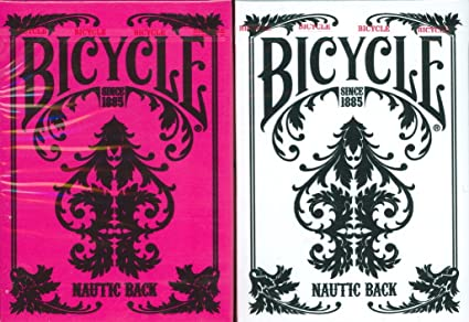 Amazon.com: Bicicleta Nautic Back Playing Cards 2 Deck Set ...