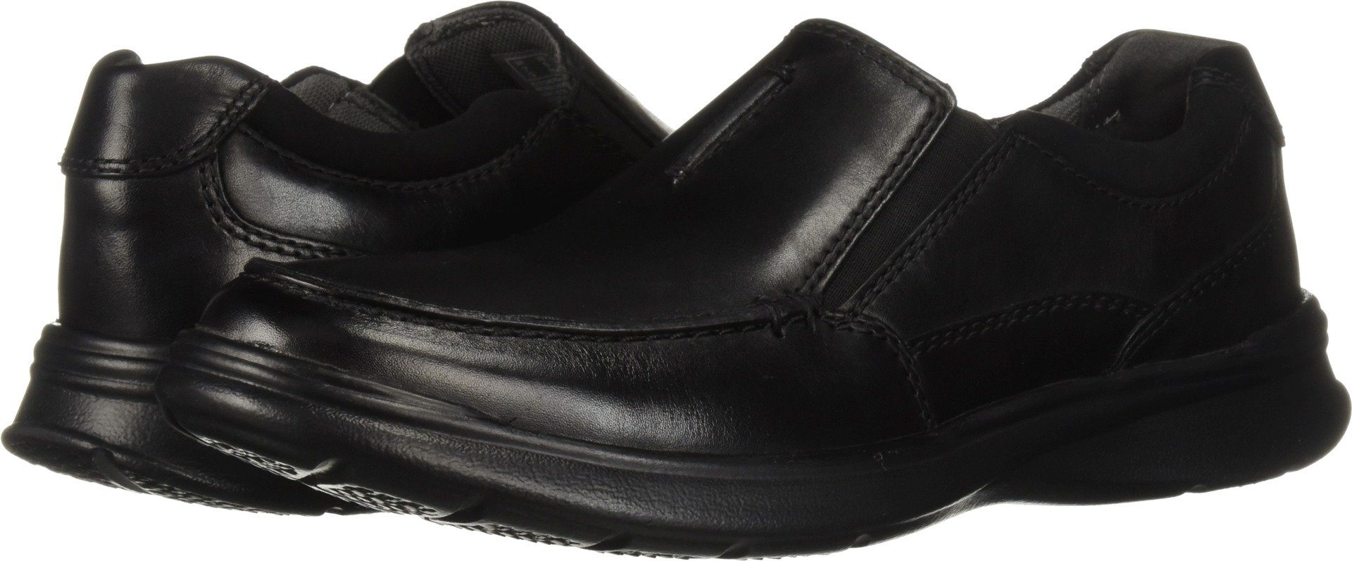 CLARKS Men's Cotrell Free Loafer, Black Smooth Leather, 115 M US