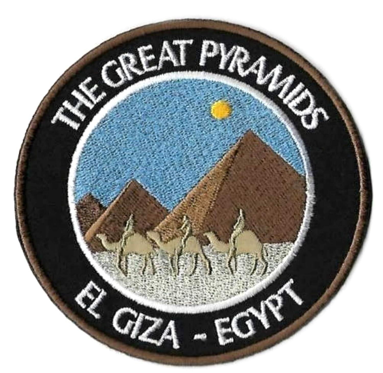 The Great Pyramids Giza Egypte /Écusson brod/é 8,9 cm thermocollant /à coudre Ext/érieur Souvenir Voyage Vacation Parc National Adventure Explorer Wonders of The World Series Badge Appliques