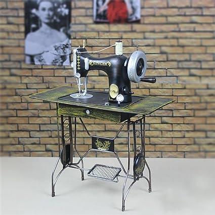 Goney Artesanía Creativa Vintage Máquina de Coser de Hierro Forjado Decoración de Modelo Decoración Accesorios de