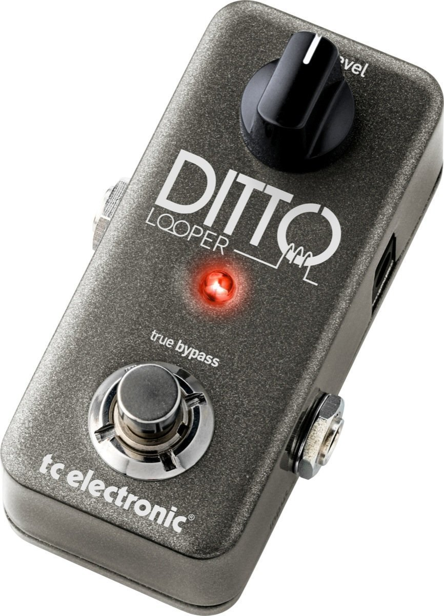 TC Electronic Ditto Looper Effects Pedal with a pair of 6'' pedalboard patch cables