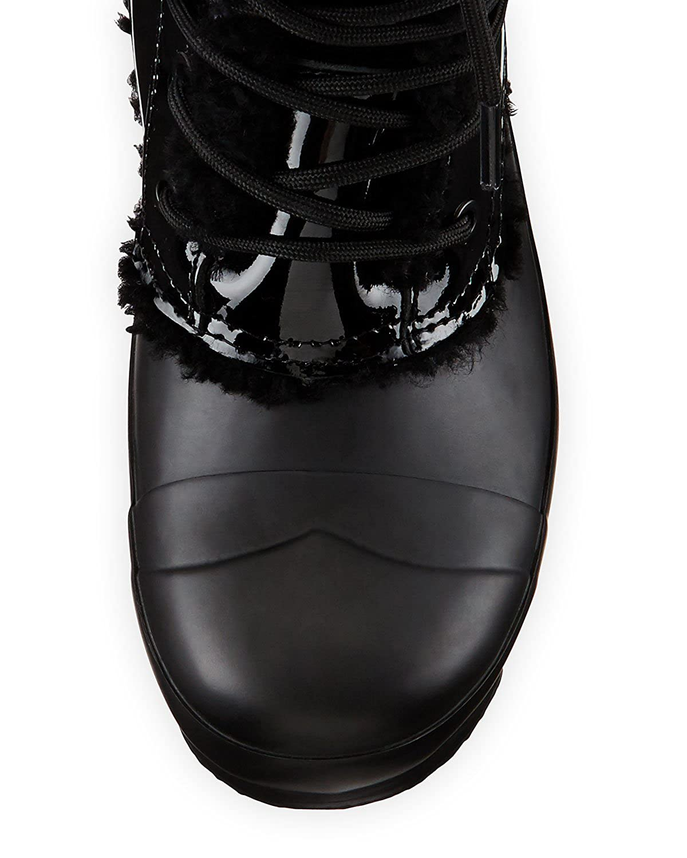 Hunter Frauen Patent Leder Rechtwinklige Spitze Kaltes Stiefel Wetter Stiefel Kaltes schwarz 2e28dd