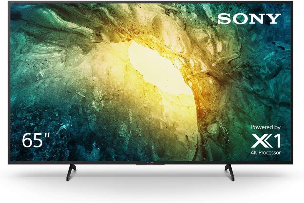 شاشة تلفزيون ذكية 65 بوصة من سوني برافيا، خاصية التصوير بالمدى الديناميكي العالي ودقة الترا اتش دي 4 كيه، زر نتفليكس ونظام اندرويد والبحث الصوتي بمساعد جوجل، سلسلة X75H موديل KD-65X7500H اصدار 2020