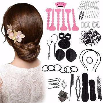 amazon com hair accessoriesn kit luckyfine magic hair styling clip