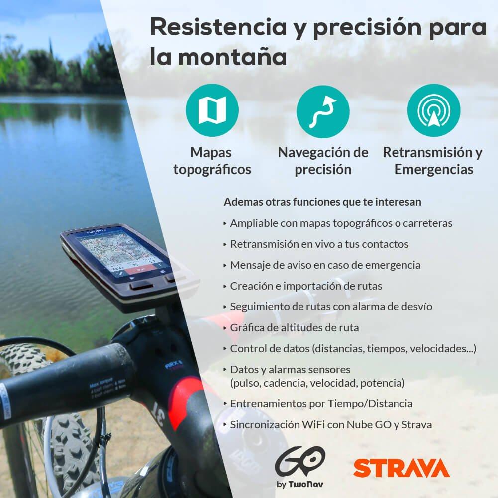 TwoNav Velo Mountain (blanco) - GPS Full Connect para Ciclismo de ...