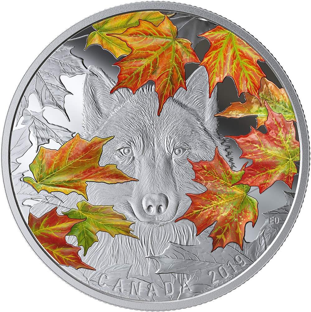 Power Coin Wily Wolf Grauwolf Ahornblätter 2 Oz Silber Münze 30 Canada 2019