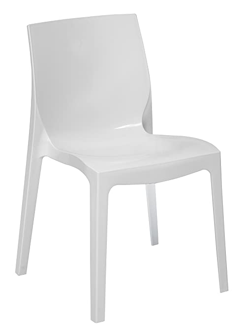 Sedie Bianche Lucide.Up On Nr 4 Sedia Mod Ice Higlopp Bianco Lucido