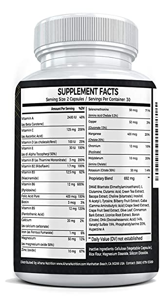 Amazon.com: Ahana Nutrition Neuro Spark - Extra Strength Brain Supplement for Focus, Energy, Clarity & Memory - Mental Performance Nootropic with Bacopa ...