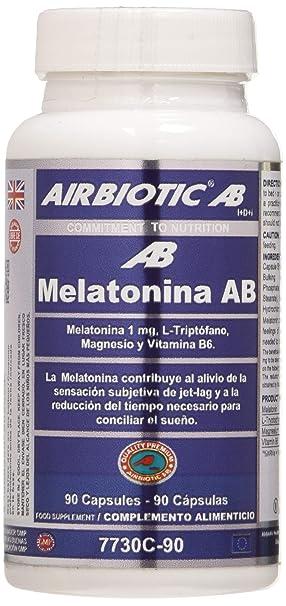 Airbiotic - Melatonina AB Complex, Multinutrientes para el Imsomnio, 90 Cápsulas