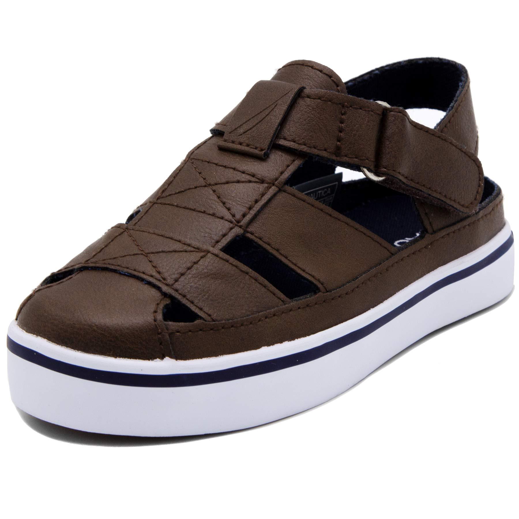 Nautica Boys' Mikkel Slip-On, Brown, 9 M US Toddler