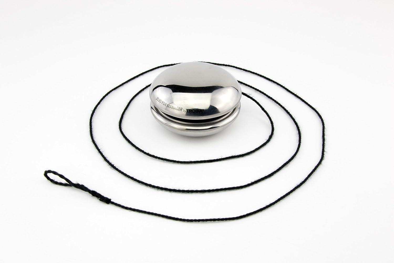 Yo-yo //pl/ástico plateado TROIKA JOJO F/ÜR MANAGER by TROIKA diversi/ón yoy/ó TROIK 18//0 pulido Yoy/ó para los administradores brillante acero inoxidable JOJ02//CH