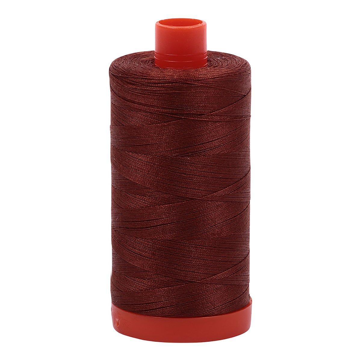 Aurifil A1050-4012 Solid 50wt 1422yds Copper Brown Mako Cotton Thread Aurifil USA