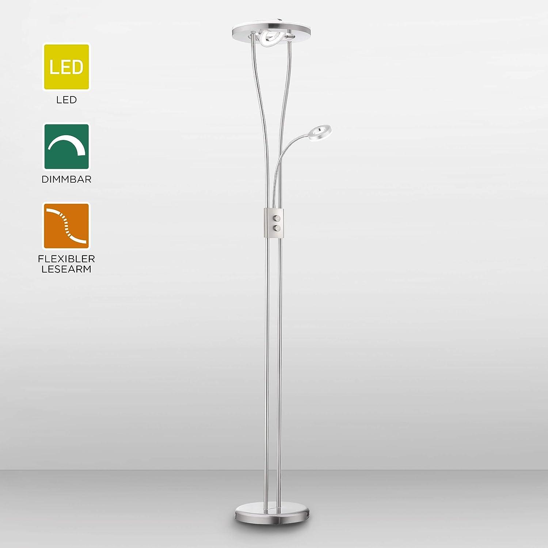 Leuchtendirekt Dimmbare Led Stehlampe Mit Leselampe Led