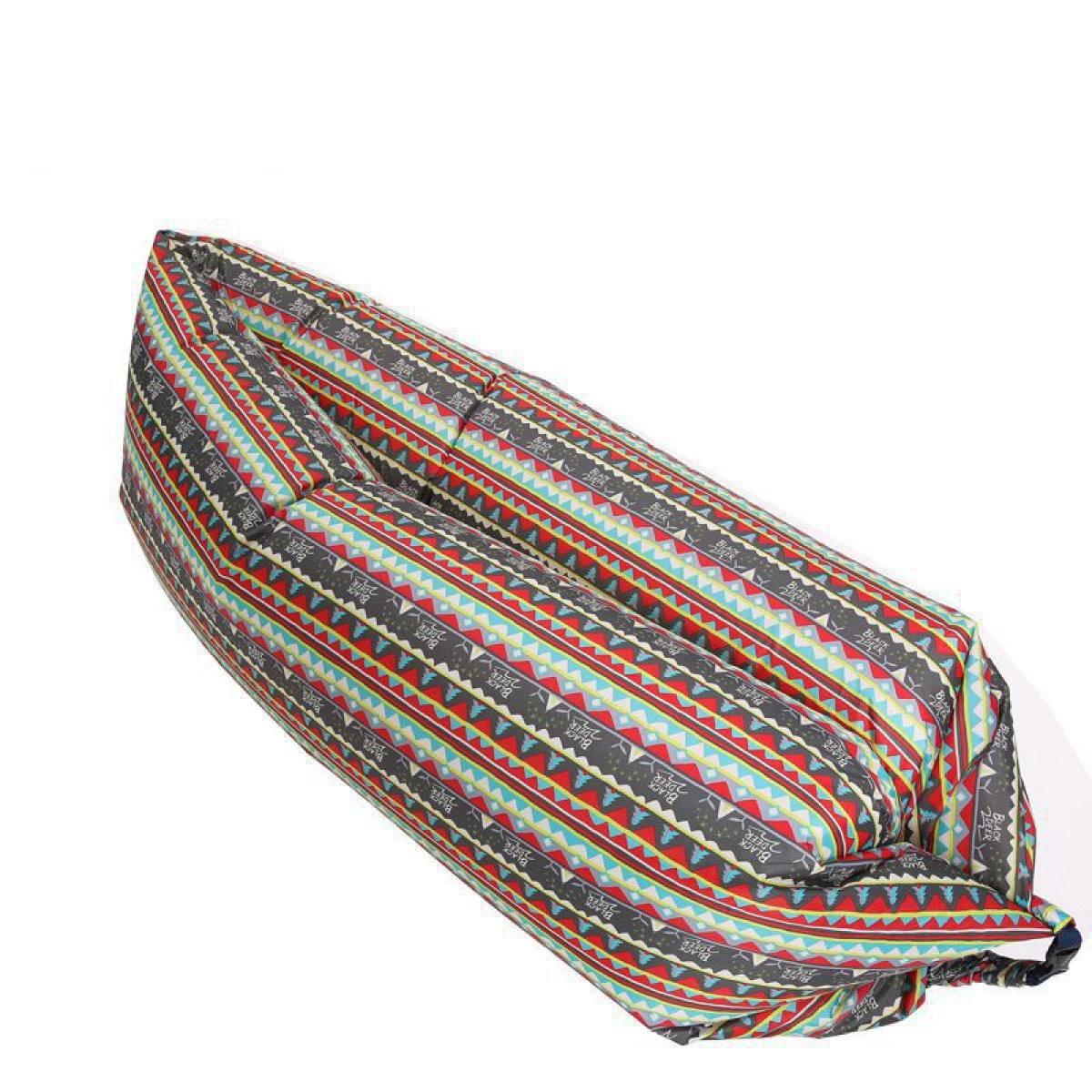 LQQAZY Im Freien Aufblasbares Ruhesessel-Sofa-faltbares Strand-beiläufiges Tragbares Aufblasbares Bett,A