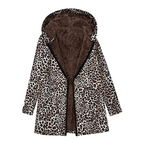 Amazon.com : IG Back Sale Womens Winter Warm Outwear Leopard ...
