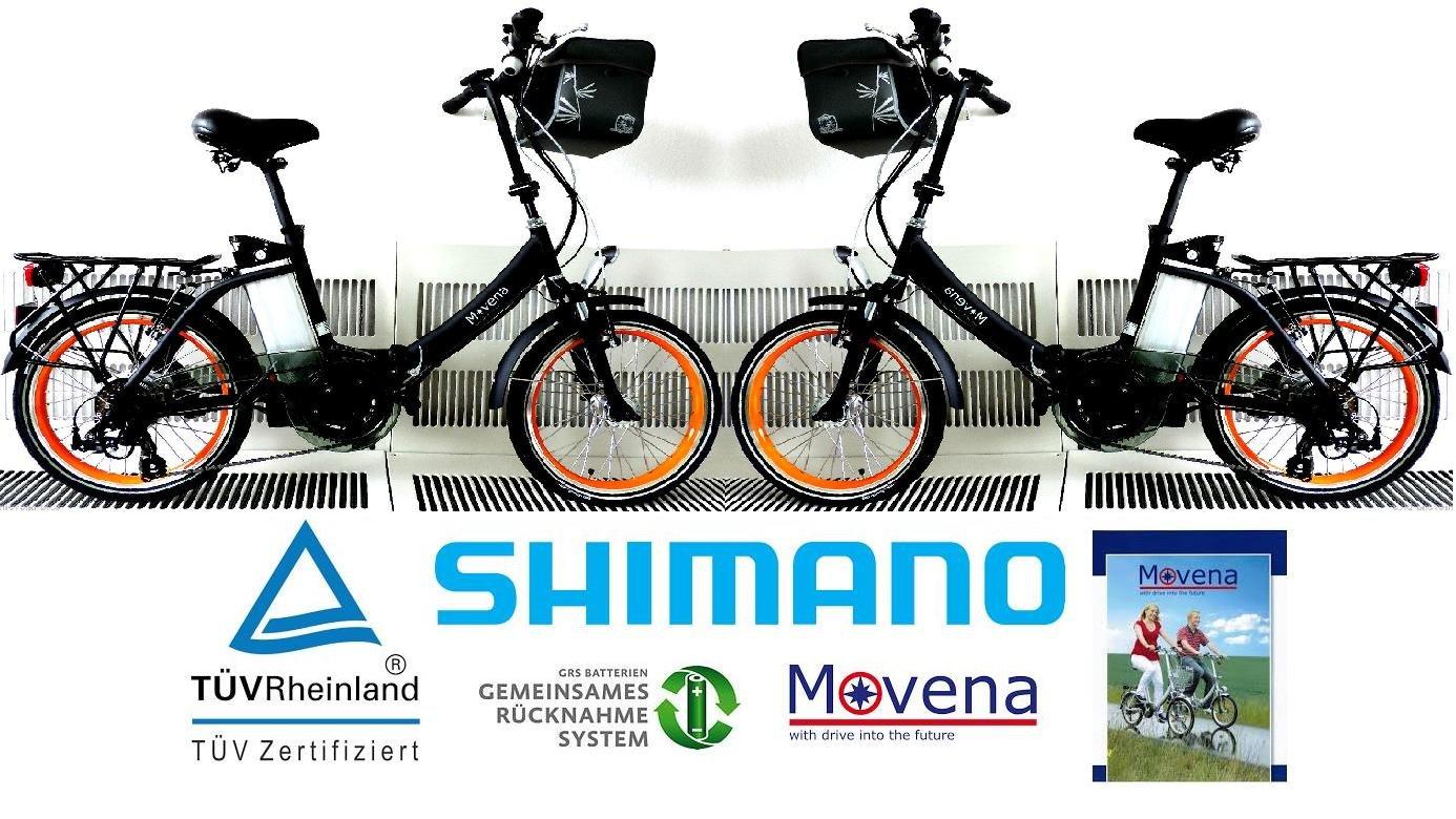 2 x Certificado TÜV y bicicleta eléctrica - 36 V 15 Ah Batería, 20 pulgadas Pedelec de bicicleta plegable, color negro mate: 36 V 15 Ah Batería & # x2714; ...