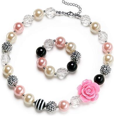 princess jewelry Chunky 18 inch Child/'s Princess Castle pendant necklace bubblegum necklace