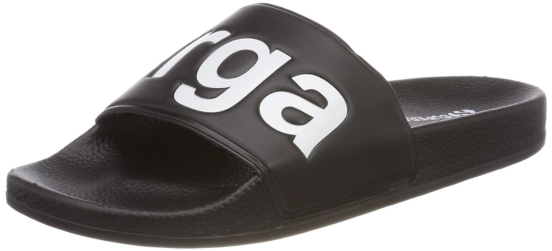 Superga Unisex-Erwachsene Slides PVC Slipper  44 EU|Schwarz (Black - White)