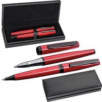 Farbe Rollerball rot Kugelschreiber Metall Schreibset