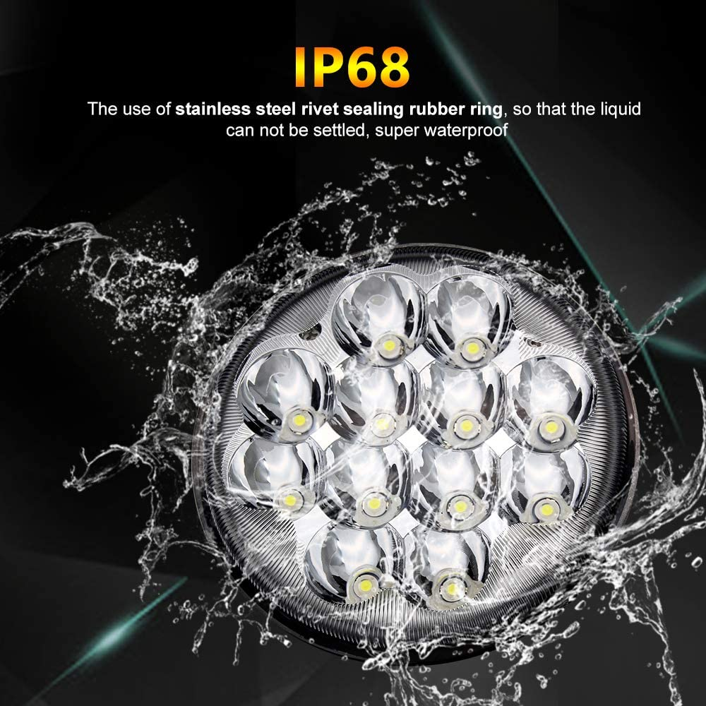 1001-1pc 5-3//4 5.75 LED Projector Headlight Sealed Hi//Lo Beam Motorcycle