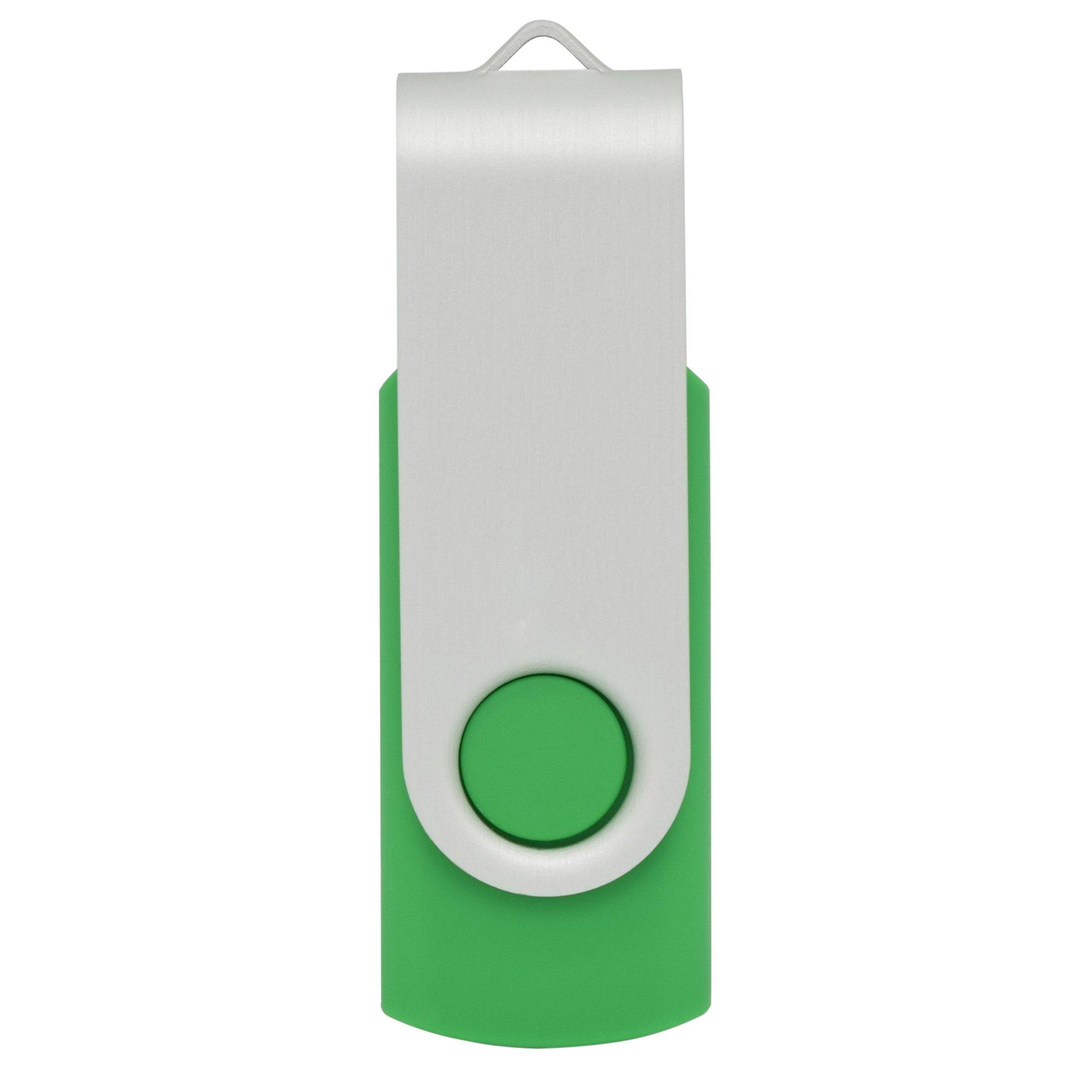 BlastCase 10pcs 4GB 4G USB 2.0 Flash Drive Memory Stick Fold Storage Thumb Stick Pen Swivel Design Green by BlastCase (Image #1)