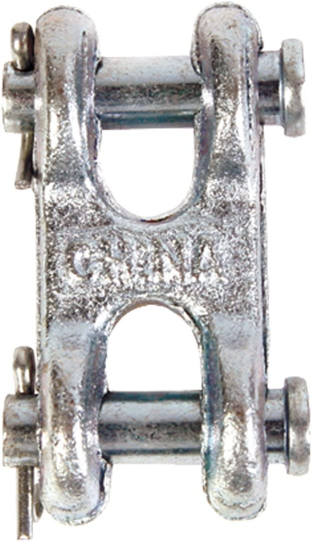 Zinc Plated Finish 3//8-Inch Koch Industries Double Clevis Link