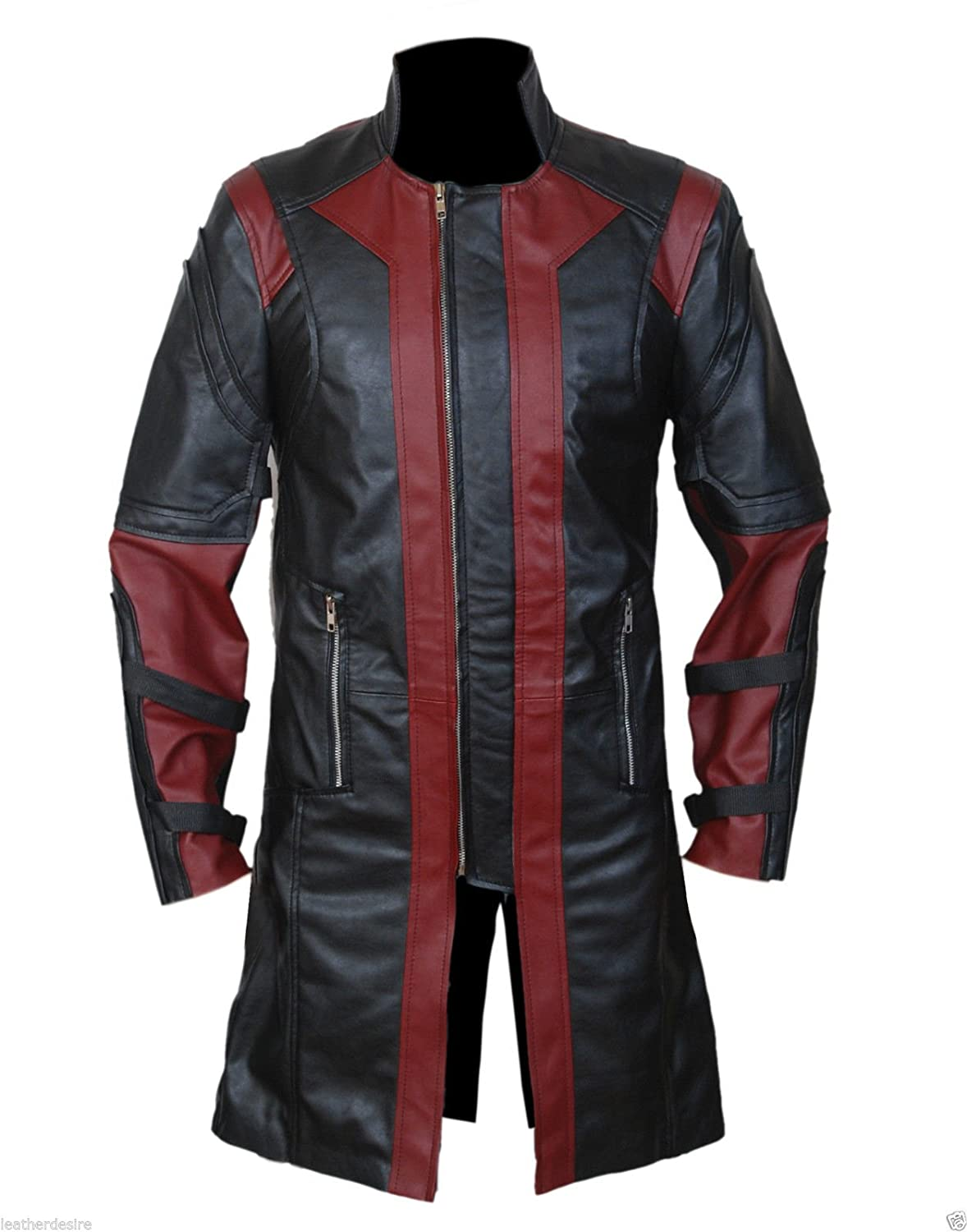 Avengers: Age of Ultron Jeremy Renner's Hawkeye Real Nappa Leather Coat - DeluxeAdultCostumes.com