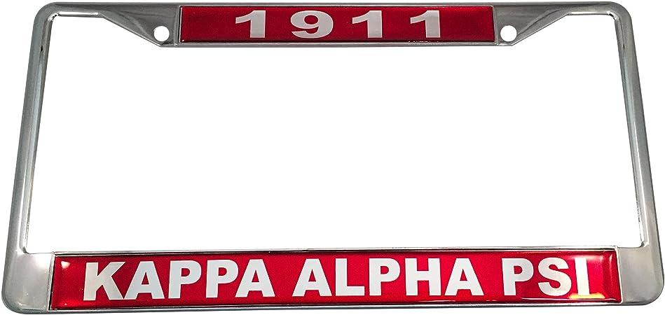 Kappa Alpha Psi Fraternity Life Member License Plate Frame-Crimson//Silver-New!