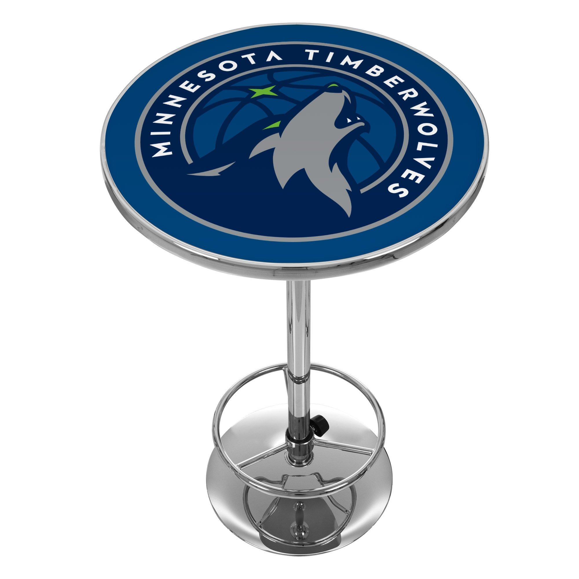 NBA Minnesota Timberwolves Chrome Pub Table